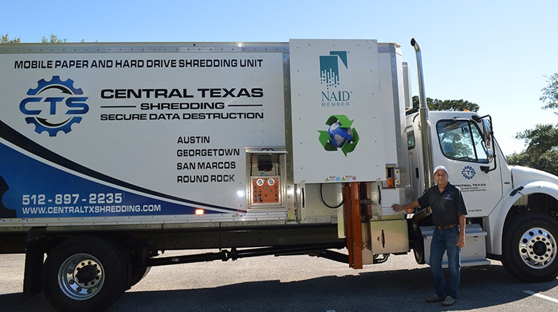 One Time Project Shredding Truck Austin TX