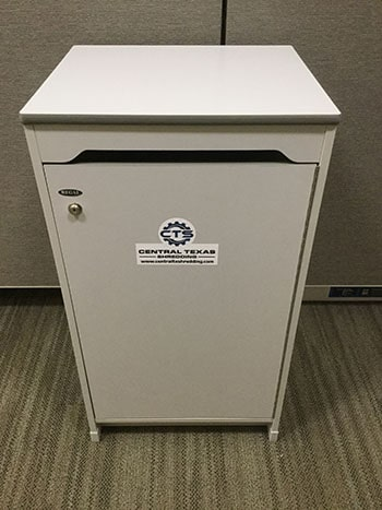 Executive Cabinet Style Console for Shredding Collection